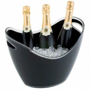 Champagne bowl zwart groot