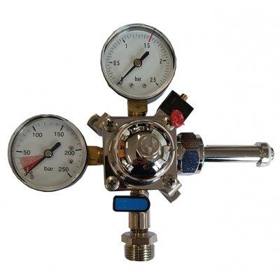 Manometer 1 kraans 0-2.5 bar geschikt voor fustenkoeling