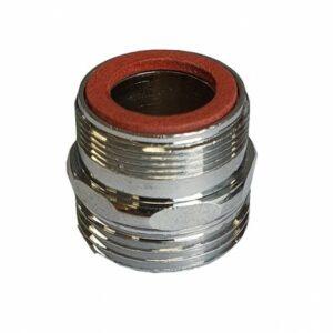 Adapter voor kraan 24 mm buitendraad naar 3/4 buitendraad