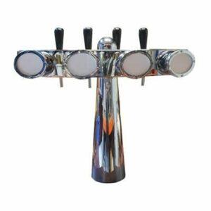 Occasion - Tapzuil totem 4 kraans met verlichte taplenzen.